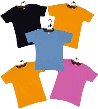 Multicolor Boys Cotton Pack of 5 T-Shirts