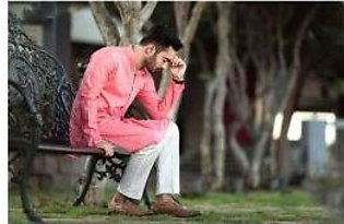 Pink Kurta With White Trouser For Men