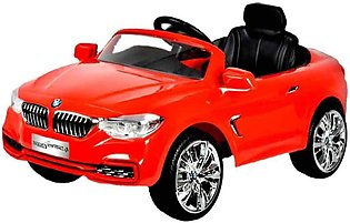 Red BMW for kids with remote control