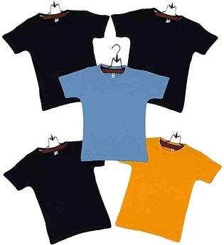 Multicolor Pack of 5 Cotton T-Shirts Boys