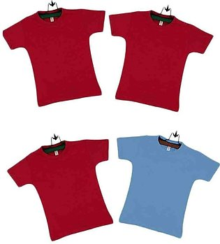 Multicolor Cotton Boys T-shirts Pack Of 4