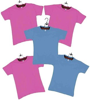 Pack of  5 Multicolor Boys Cotton T-shirts