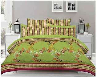Green Double Bed Sheets With 2 Pilow Cover