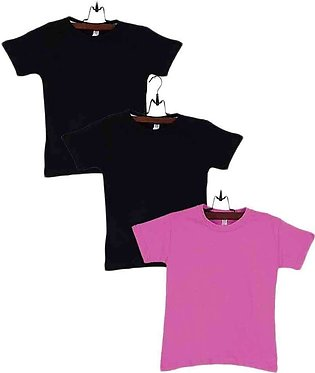 Multicolor Cotton Pack of 3 T-Shirts Boys