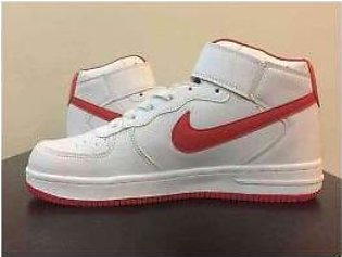 Men's Nike Red And White Shoes