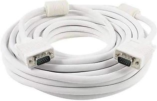 VGA Cable White 10 Meters