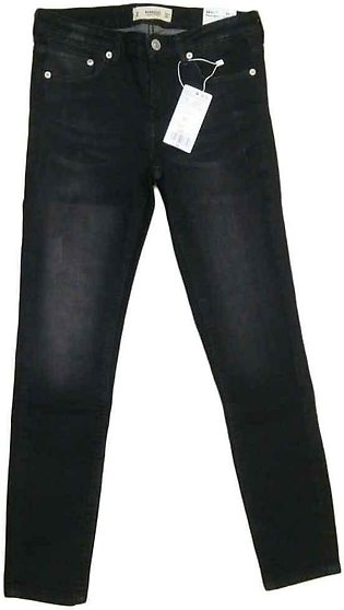 Women's Black Shaded Denim Jeans