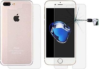 2 in 1 Glass Protector For iPhone 7 Plus Transparent Front Back