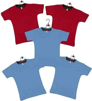 Cotton T-Shirts Pack of 5 For Boys