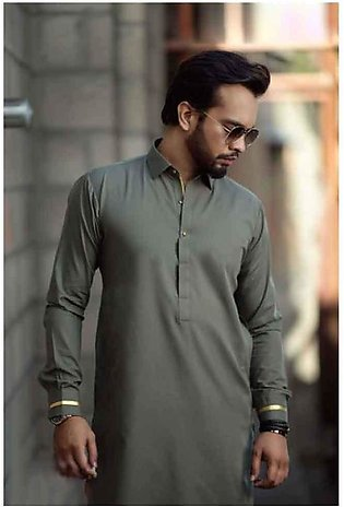 Olive Green Kurta Shalwar For Men
