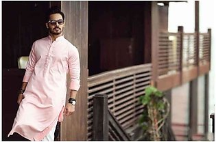 Light Pink Kurta Shalwar For Men