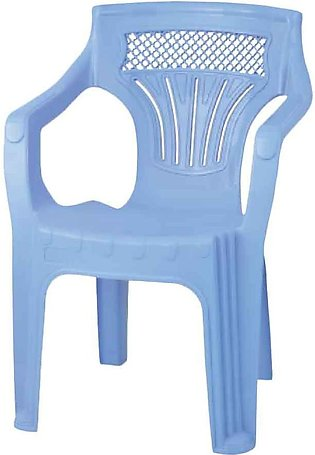 Shouldered Plastic Chair Blue