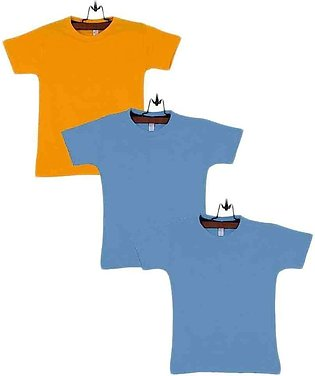 Multicolor Pack of 3 Cotton T-Shirts For Boys