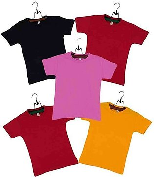 Boys Pack of 5 Multicolor T-shirts