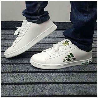 Adidas White Flat Shoes Men