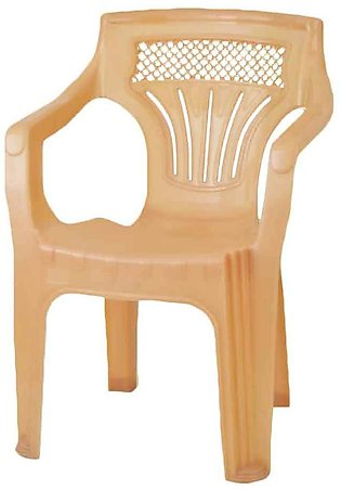 Shouldered Plastic Chair Fawn
