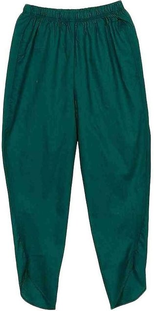Green Cotton Tulip Pants for Girls