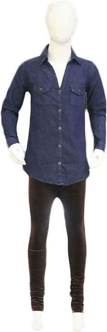 Kids Blue & Chocolate Brown Pants Shirts