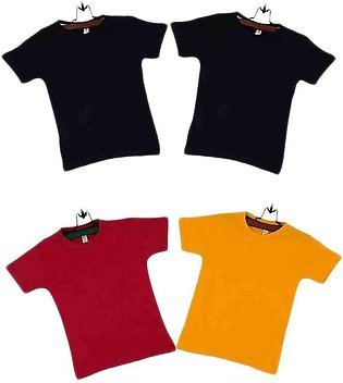 Men's Black Red And Yellow T-Shirt For Boys