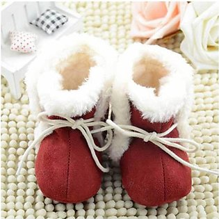 Brown Lace Soft Cotton Baby Shoes