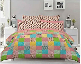 Pink Double Bed Sheets With 2 Pilow Cover
