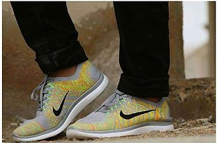 Men's Nike Yellow And Grey Shoes