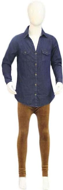 Kids Blue & Camel Brown Pants Shirts