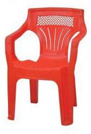 Shouldered Plastic Chair Red