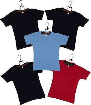 Boys Pack of 2 Multicolor Cotton T-Shirts