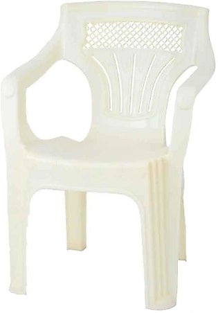 Shouldered Plastic Chair White