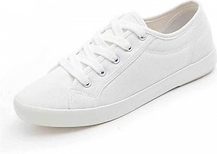 Women's White Lace Comfortable Trainers