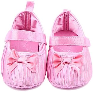 Baby Shining Pink Bow Knot Shoes