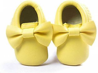 Yellow Bow Knot Comfortable Baby Shoes
