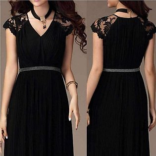 Women's Long Party Black Maxi Dress