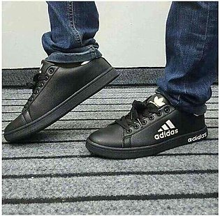 Adidas Black Flat Shoes Men