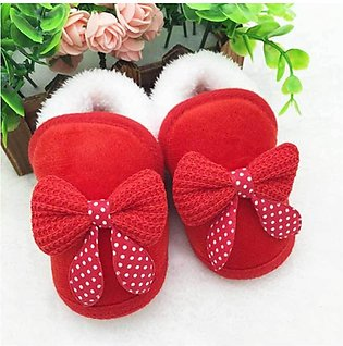 Cute Baby Red Bow Style Shoes