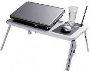 muzz & sons E Table With Laptop Cooling Pad