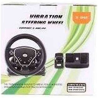 Games Arena Black Vibration Steering Wheel For Xbox One & PC