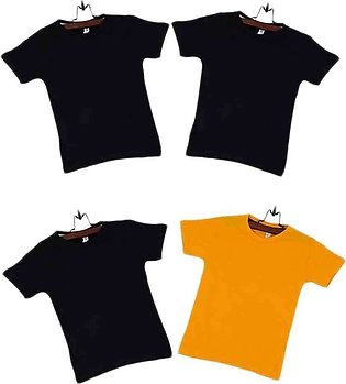 Pack of 4 Cotton T-shirts Boys Multicolor