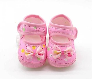 Baby Flower Print Pink Shoes