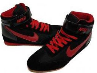 Men's Nike Red And Black Shoes
