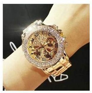 Women's Gold Crystal Diamond Watches