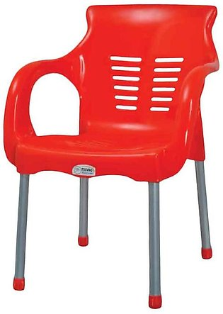 Super Steel Plastic Chair Red