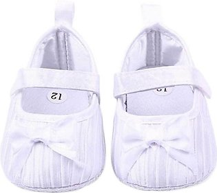 White Bow Knot Comfy Baby Shoes