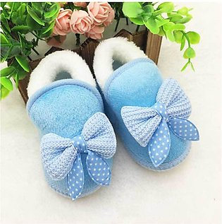 Blue Soft Cotton Comfortable Baby Shoes