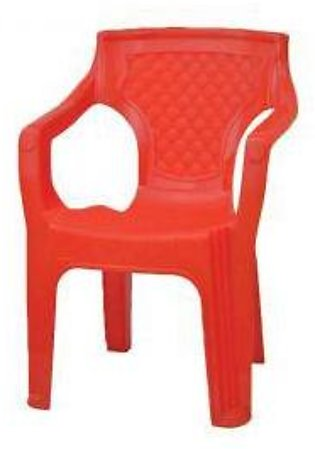 Flat Plastic Chair Red