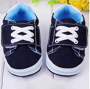 Blue & white Lace Style Shoes For Babies