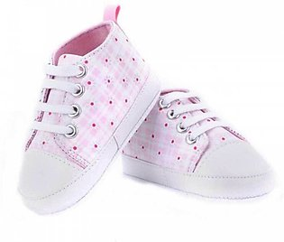 Kids Pink Checks Casual Shoes