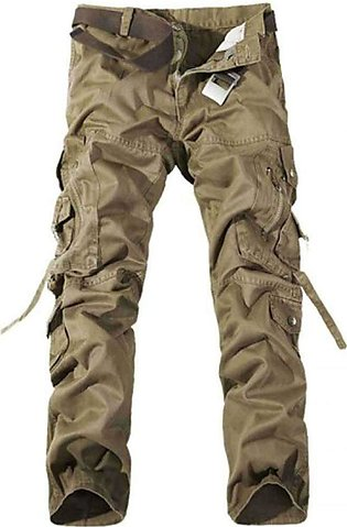 Brown Baggy Style Cargo Pants