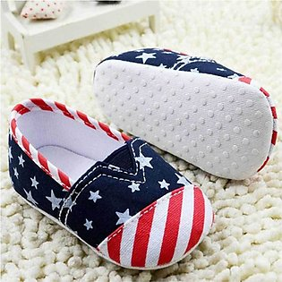Nw Born Baby American Flag Shoes